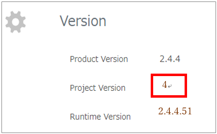 """Make sure that the Project Version is """"4"""""""